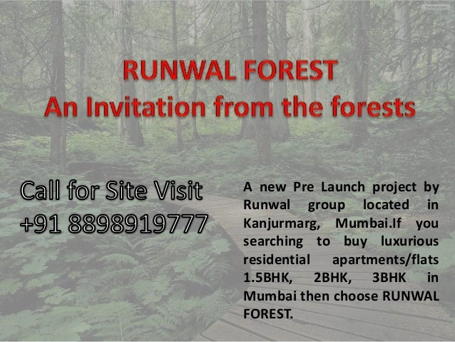 A new Pre Launch project by Runwal group located in Kanjurmarg, Mumbai.If you searching to buy luxurious residential apart...