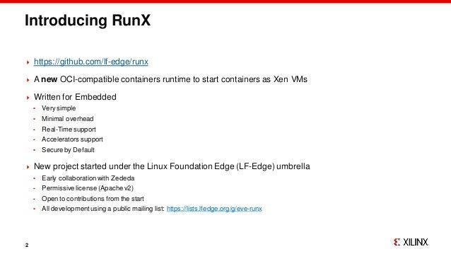 RunX ELCE 2020 Slide 2