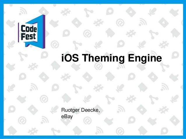 iOS Theming Engine Ruotger Deecke, eBay