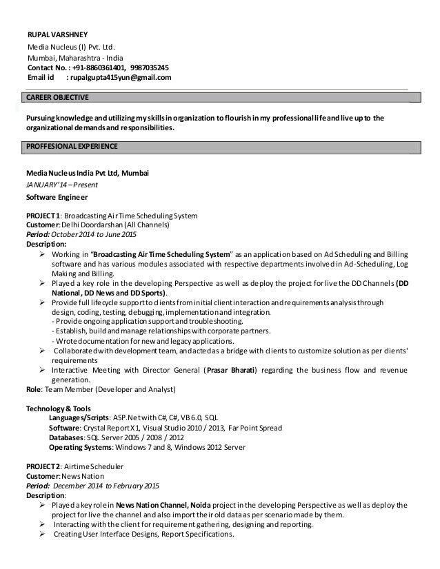 RUPAL VARSHNEY Media Nucleus (I) Pvt. Ltd. Mumbai, Maharashtra - India Contact No. : +91-8860361401, 9987035245 Email id :...