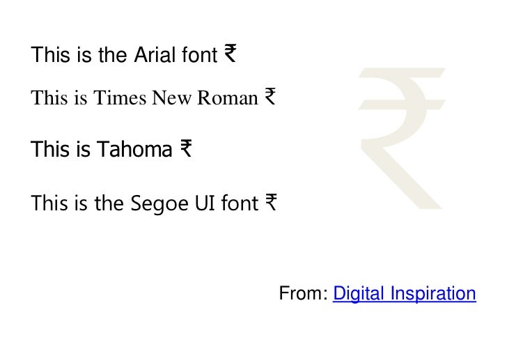 ₹This is the Arial font ₹This is Times New Roman ₹This is Tahoma ₹This is the Segoe UI font ₹                             ...