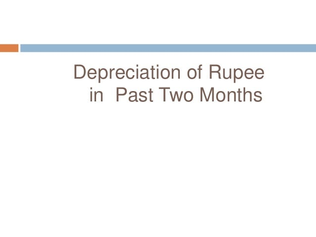 Depreciation of Rupee in Past Two Months