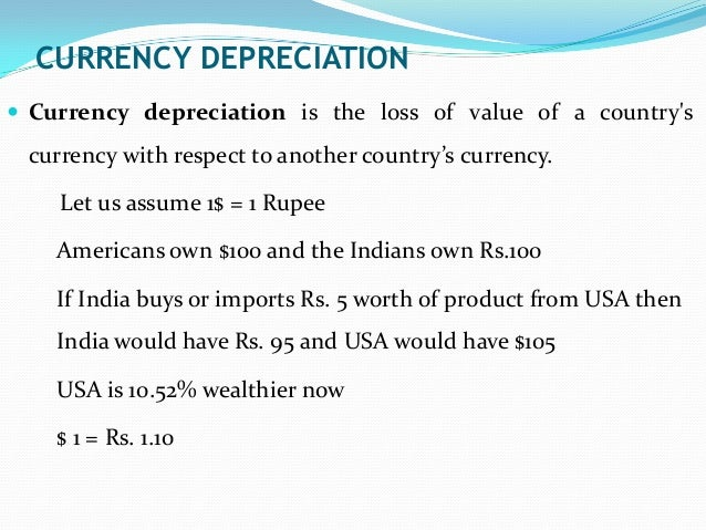 causes of currency depreciation pdf