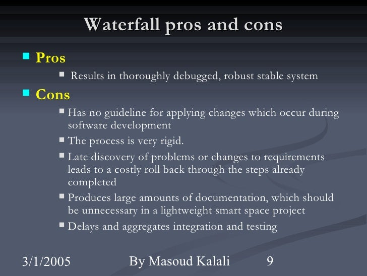 waterfall design pros and cons an overview of software development methodologies