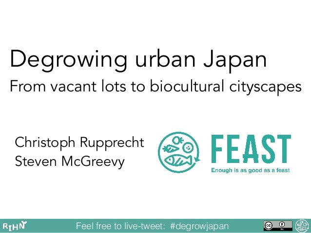 Degrowing urban Japan