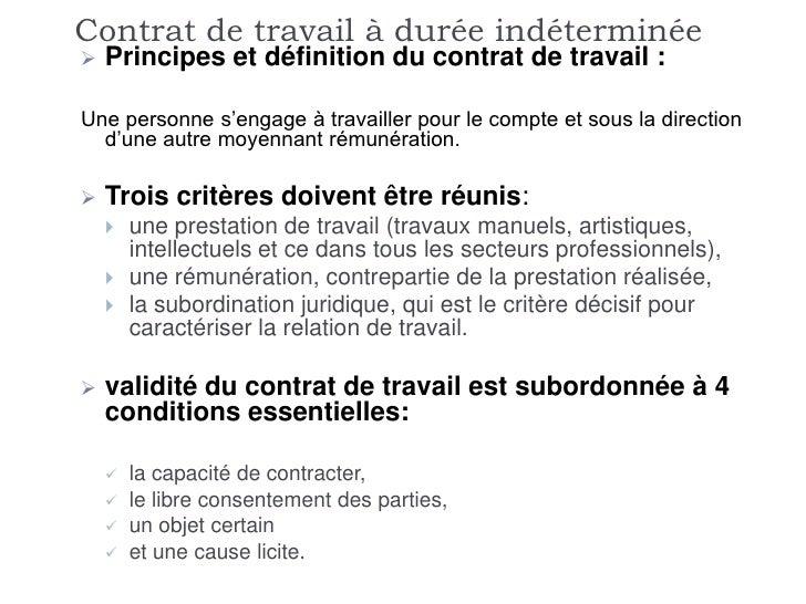 validité d un contrat de travail Critère Du Contrat De Travail | sprookjesgrot validité d un contrat de travail
