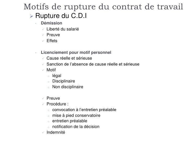 comment rompre un contrat de travail Rupture du contrat de travail comment rompre un contrat de travail