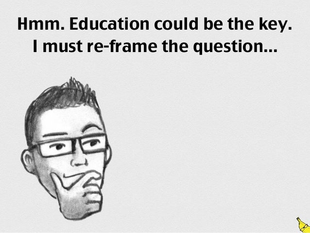 Hmm. Education could be the key. I must re-frame the question...