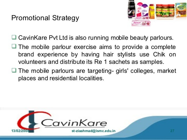 cavinkare private limited serving low income consumers Abstract this case deals with the strategies adopted by cavinkare private limited to serve the low income consumers in india chik brand of cavinkare established its leadership in rural markets and emerged as the second largest selling shampoo brand.