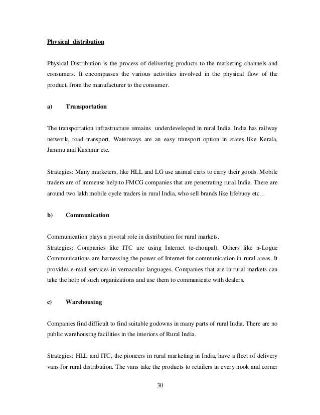 fmcg distribution strategies in rural india Reaching the real india distribution strategies for fmcgs in the rural indian landscape a paper byanurag kumar (10) bhuvan deep dua (20) himanshu goyal (30).