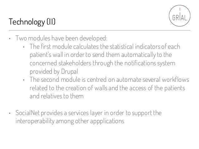 Technology (II) • Two modules have been developed: • The first module calculates the statistical indicatorsof each patient...