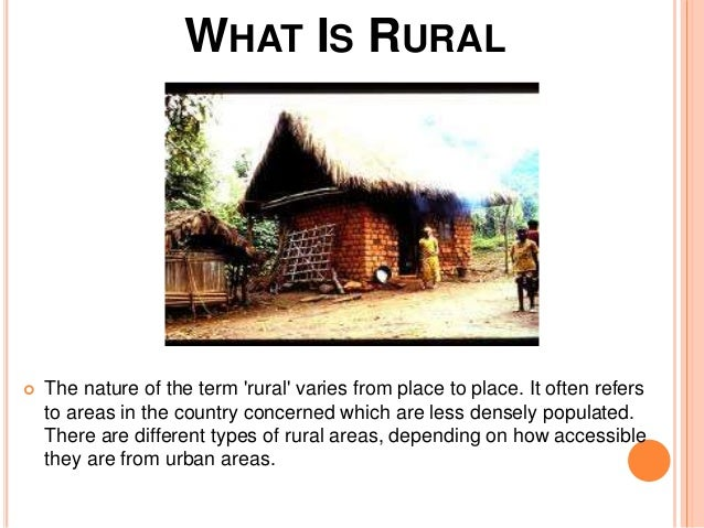 what is rurality and urbanity Rural–urban regions: a spatial approach to define urban–rural  concepts  of rurality and urbanity exist according t o varying criteri a of l.
