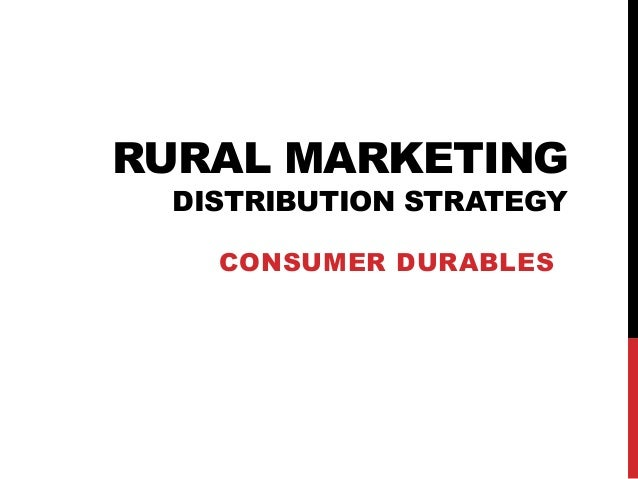 Demand for Consumer Durables in Rural Areas