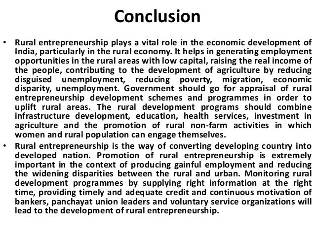 rural development in india through entrepreneurship