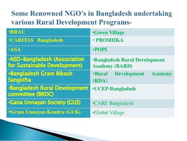 essay on rural development programme