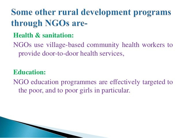 ngos in rural bangladesh Non-government organisations unicef's collaborates directly with international and national non-government organisations (ngos) throughout bangladesh.