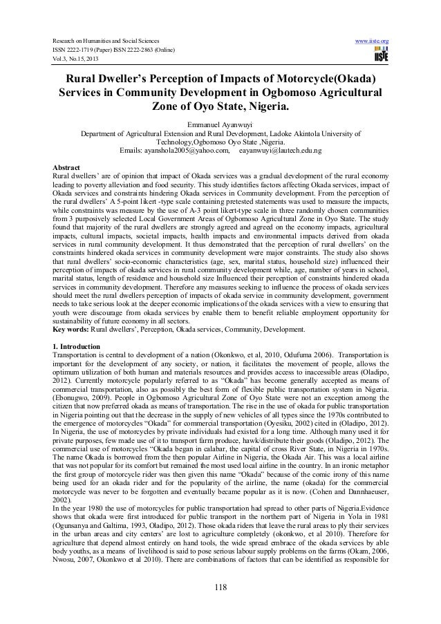 Research on Humanities and Social Sciences ISSN 2222-1719 (Paper) ISSN 2222-2863 (Online) Vol.3, No.15, 2013  www.iiste.or...