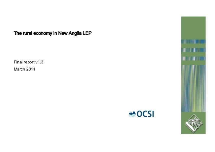 The rural economy in New Anglia LEPFinal report v1.3March 2011