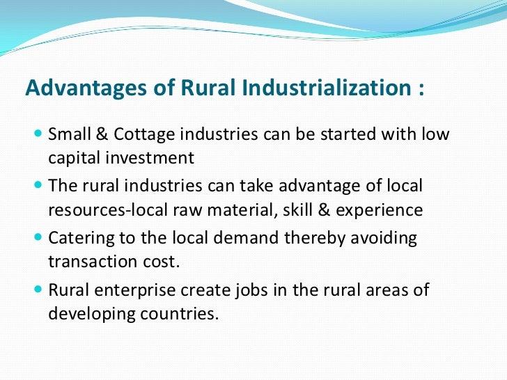 Advantages of industrialisation