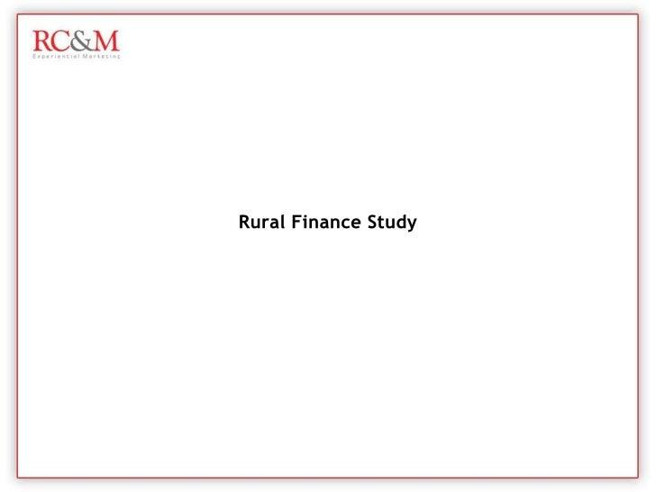 Rural Finance Study<br />