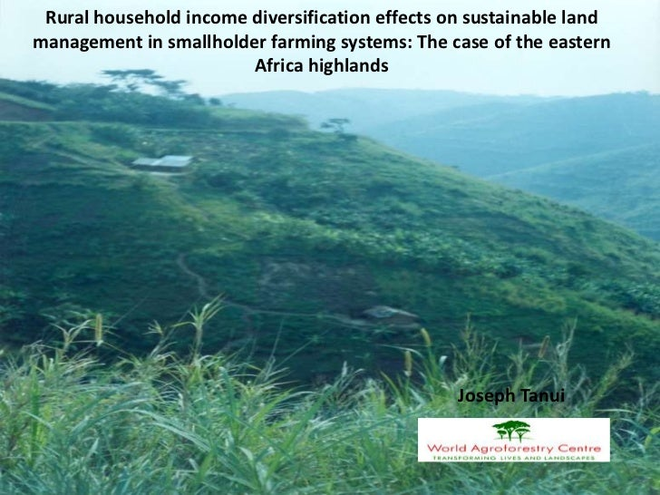 Rural household income diversification effects on sustainable landmanagement in smallholder farming systems: The case of t...