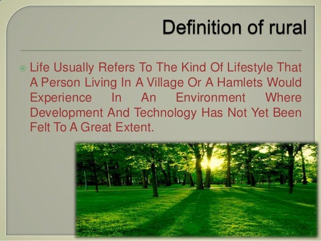 essay on urban life vs rural life