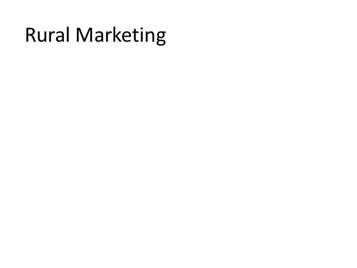 Rural Marketing<br />