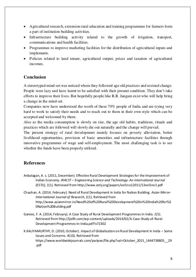 rural development research papers