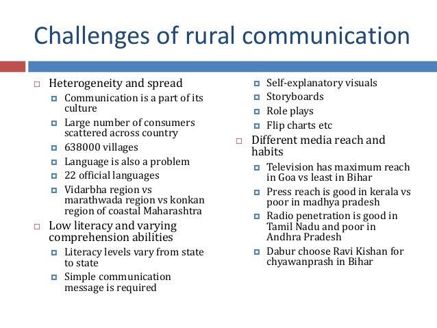 types of rural communication