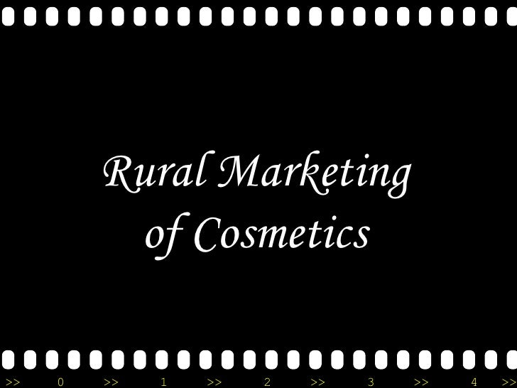 Rural Marketing of Cosmetics