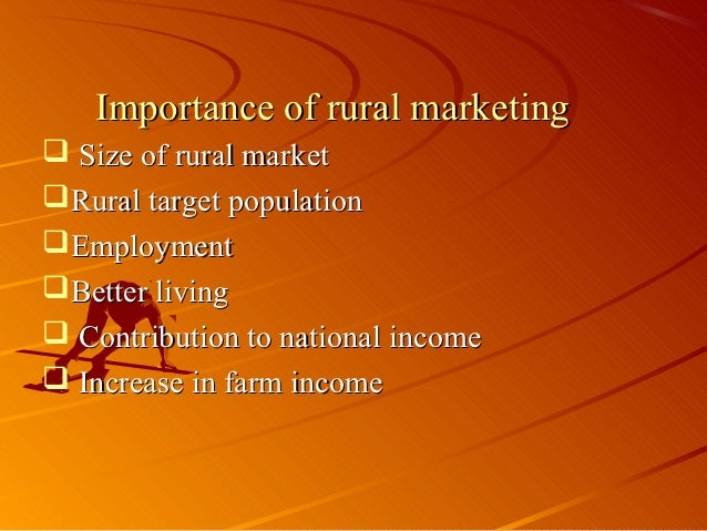 importance of rural marketing