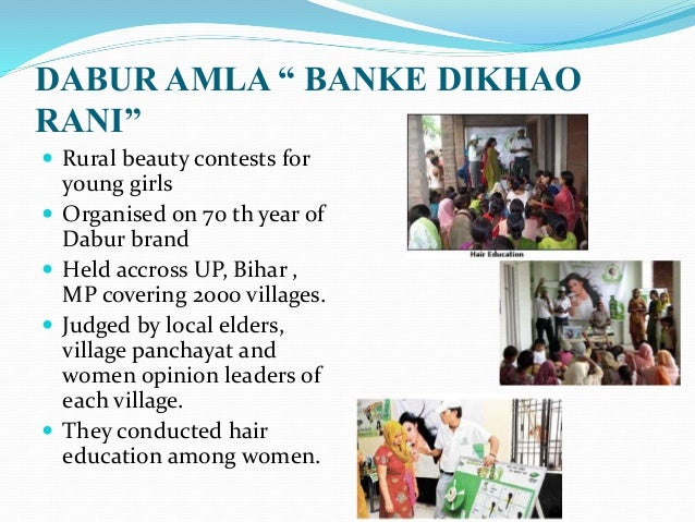 rural marketing of dabur Burgeoning indian population, particularly the middle class and the rural   however with a large product portfolio in the market, dabur had to maintain.
