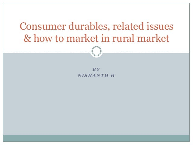 demand for consumer durables in rural The coming festival season will give clues on whether all is well with demand for durables.