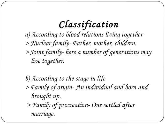 family of procreation sociology