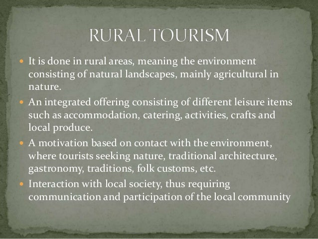 objectives of rural tourism in india