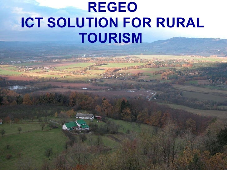 REGEO ICT SOLUTION FOR RURAL TOURISM