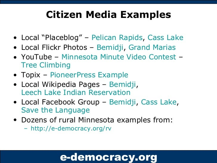Issues Forums - Online Town Halls from E-Democracy Org