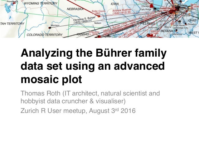 Analyzing the Bührer family data set using an advanced mosaic plot Thomas Roth (IT architect, natural scientist and hobbyi...