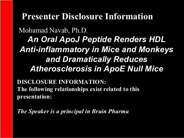 Presenter Disclosure Information DISCLOSURE INFORMATION: The following relationships exist related to this presentation: T...
