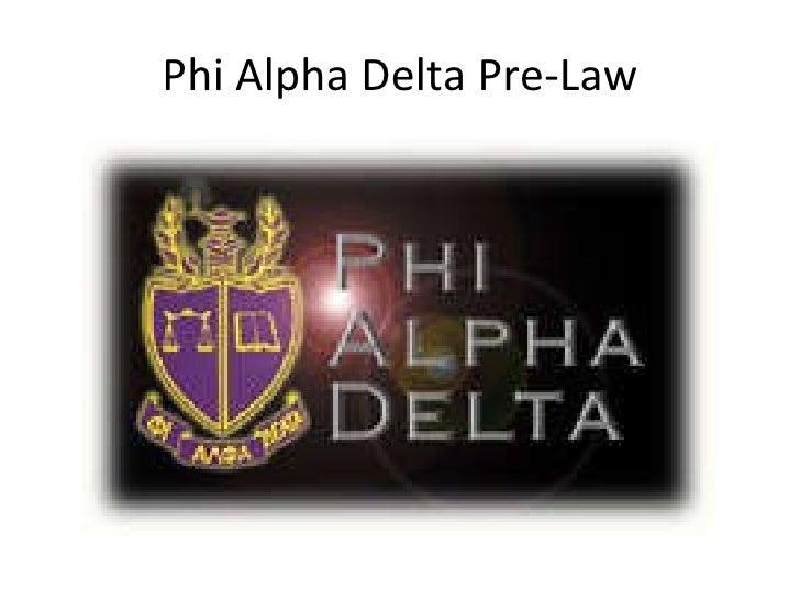 Phi Alpha Delta Pre-Law