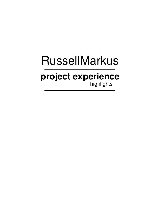 RussellMarkus project experience highlights