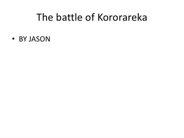 The battle of Kororareka • BY JASON