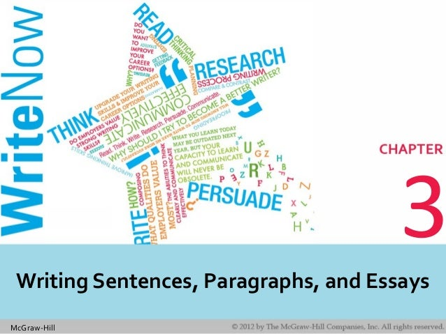 McGraw-Hill 3 Writing Sentences, Paragraphs, and Essays