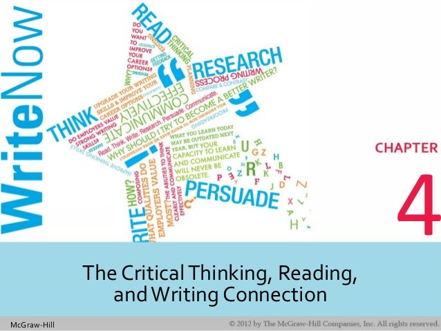 McGraw-Hill 4The CriticalThinking, Reading, andWriting Connection