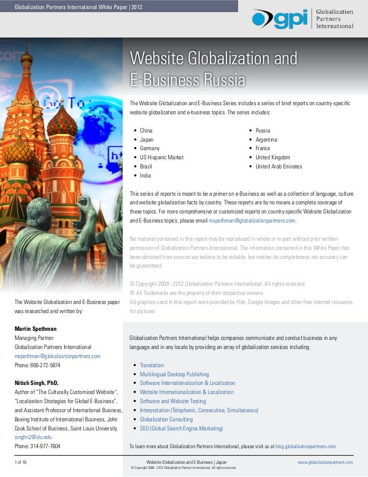 Globalization Partners International White Paper | 2012                                                     Website Global...