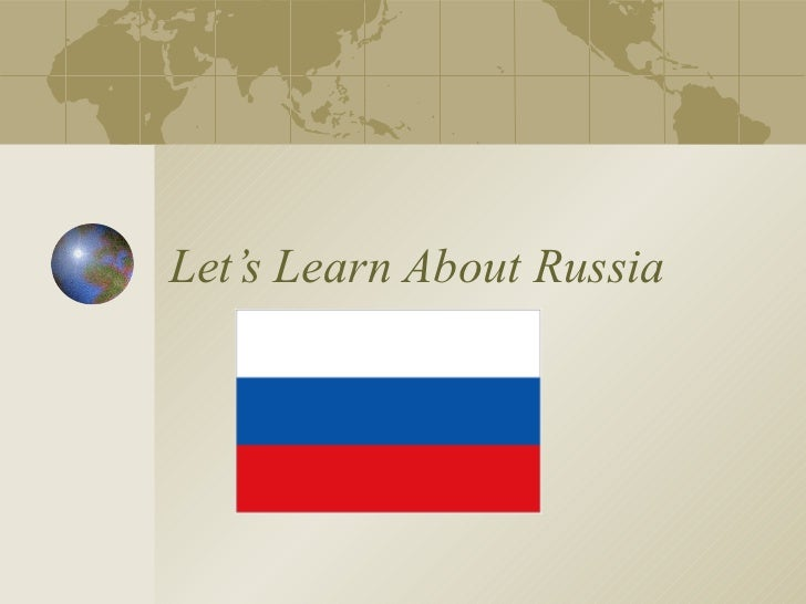 Let's Learn About Russia