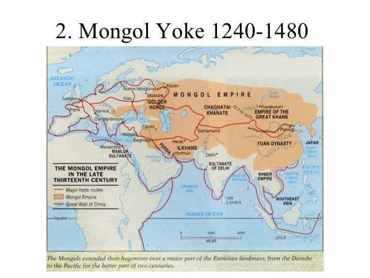 Mongol yoke impact on russias development