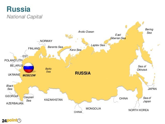Russia Map Editable Powerpoint Map Slides