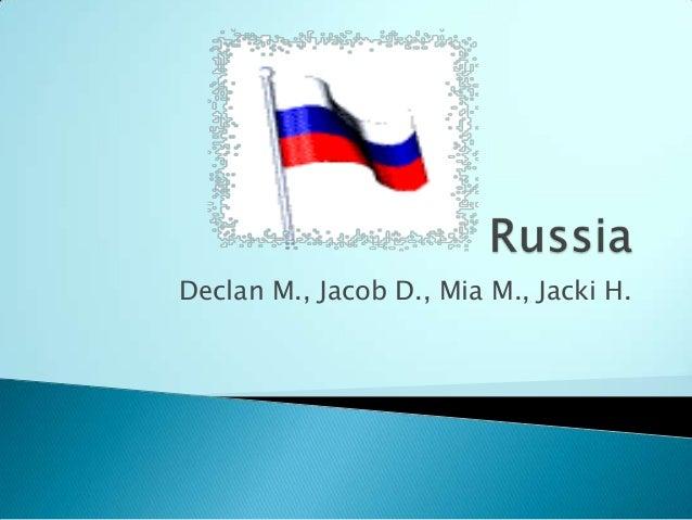 Declan M., Jacob D., Mia M., Jacki H.