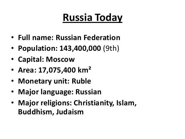 Language Name Russian Population